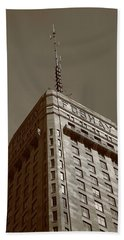 Beach Towel featuring the photograph Minneapolis Tower 6 Sepia by Frank Romeo