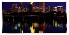 Minneapolis Twilight Beach Towel
