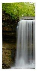 Minnehaha Falls Beach Towel by Tiffany Erdman