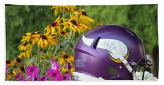 Minnesota Vikings Helmet Beach Sheet by Kyle West