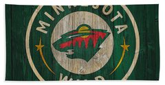 Minnesota Wild Graphic Barn Door Beach Towel