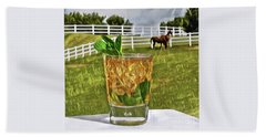 Mint Julep Kentucky Derby Beach Towel