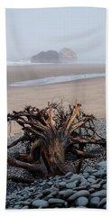 Minus Tide At Arch Cape Beach Towel