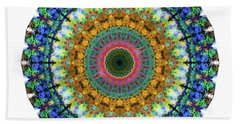Miracle Mandala Art By Sharon Cummings Beach Towel