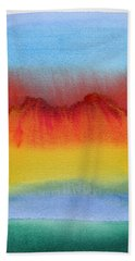 Beach Towel featuring the painting Miraggio by Bee-Bee Deigner