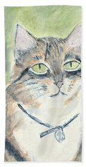 Beach Towel featuring the painting Miranda by Kathryn Riley Parker