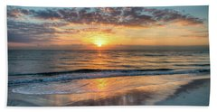Beach Sheet featuring the photograph Mirror At Sunrise by Debra and Dave Vanderlaan