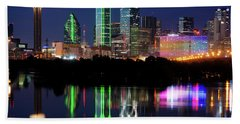 Mirror Colors Skyline Beach Towel