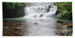 Beach Towel featuring the photograph Mirror Lake Falls 2 by Renee Hardison