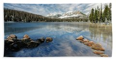 Beach Towel featuring the photograph Mirror Lake by Scott Read