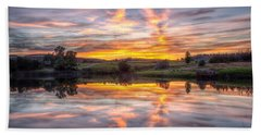 Mirror Lake Sunset Beach Towel