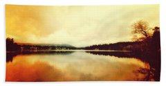 Mirror Lake At Sunset Beach Towel