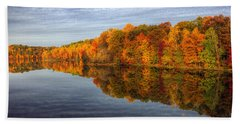 Mirror Mirror On The Fall Beach Towel by Edward Kreis