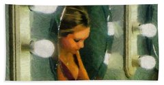 Beach Towel featuring the painting Mirror Mirror On The Wall by Jeff Kolker