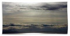 Mirror Sunset Landscape Beach Towel
