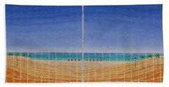 Mirror Twin Beaches Beach Towel