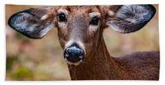 Miss Deer 1 Beach Towel
