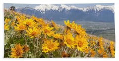 Mission Mountain Balsam Blooms Beach Towel
