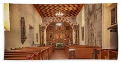 Beach Towel featuring the photograph Mission San Francisco De Asis Interior by Susan Rissi Tregoning