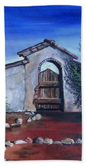 Beach Sheet featuring the painting Rustic Charm by Mary Ellen Frazee