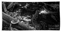 Beach Towel featuring the photograph Missisquoi River In Vermont - 2 Bw by James Aiken
