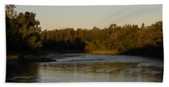 Mississippi River Morning Glow Beach Towel by Kent Lorentzen