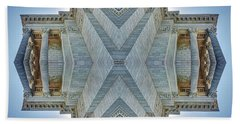 Beach Towel featuring the photograph Missouri Capitol - Abstract by Nikolyn McDonald