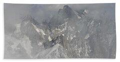Mist At Aiguille Du Midi Beach Towel