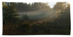 Mist In The Meadow Beach Towel
