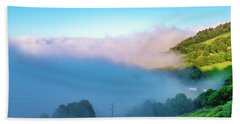 Beach Towel featuring the photograph Mist In Tineo by Fabrizio Troiani
