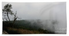 Mist On The Mountains Beach Sheet by Kathy Russell