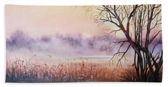 Mist On The River Beach Towel