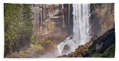 Mist Trail And Vernal Falls Beach Towel