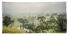 Beach Towel featuring the photograph Mist Valley by Ray Warren