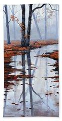 Misty Autumn Colors Beach Towel