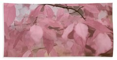 Misty Autumn Leaves Beach Sheet by Judy Palkimas