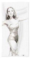 Misty Ballerina Dancer II Beach Sheet