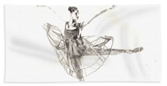 Misty Ballerina Dancer IIi Beach Towel