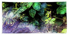 Misty Branches Beach Towel