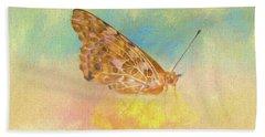 Misty Butterfly Beach Towel