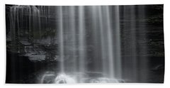 Misty Canyon Waterfall Beach Towel