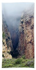 Beach Towel featuring the photograph Misty Canyons by Phyllis Denton