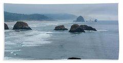 Misty Coastline Beach Sheet