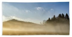 Beach Towel featuring the photograph Misty Country Morning by Thomas R Fletcher