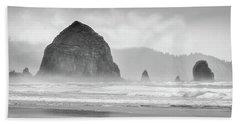 Misty Haystack Beach Towel