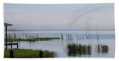 Misty Lake Beach Towel
