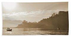 Misty Morning 2 Beach Towel by Kiran Joshi