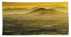 Misty Morning At Palouse. Beach Towel