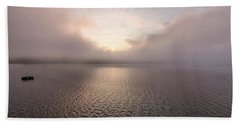 Beach Towel featuring the photograph Misty Morning II by Tom Singleton
