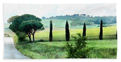 Misty Morning In Umbria Beach Towel